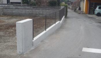 ブロックフェンス 改修工事
